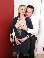 Naughty British housewife doing it with her lover